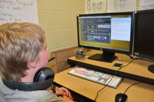 PNN Media Camper Ted voicing over his video project.