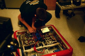 Fixing the robot on air