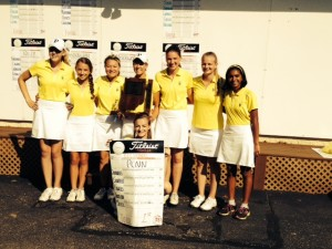 Girls Golf team took home 1st at sectionals