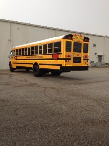 New bus parked at transportation