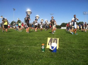 Picture of the Marching Kingsmen during practice, taken by Lydia Sheaks/The Elkhart Truth