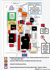 The Main Lot is closed as indicated by the red x.