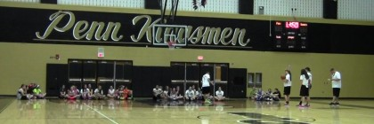 Girls come to the Penn Main Arena to develop their skills on the hardwood.