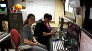 GAPP Students learning to use the Tricaster video switchboard in the PNN Studio
