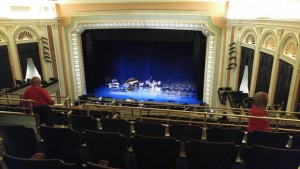 The setup at the Lucas Theater